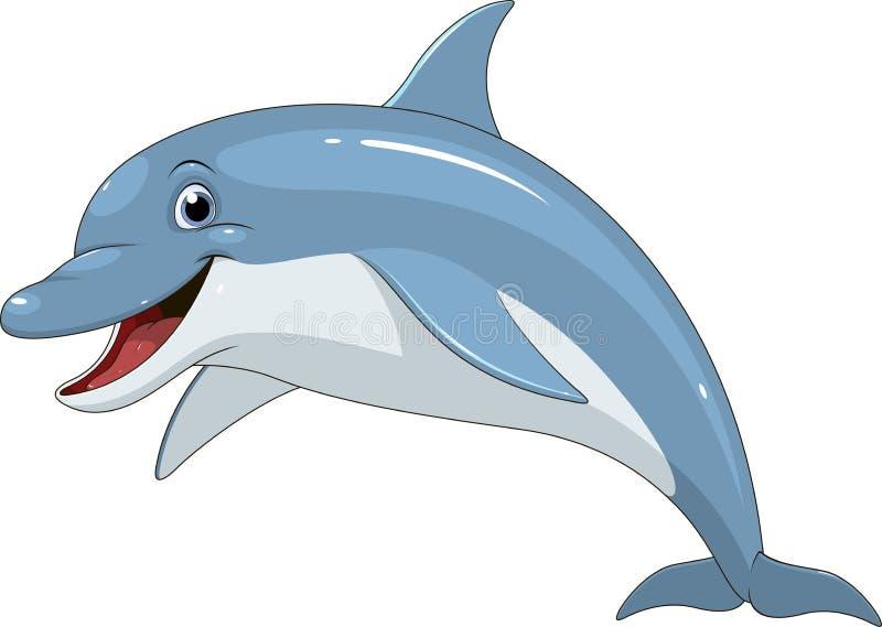 Αστεία διασκέδαση δελφινιών διανυσματική απεικόνιση