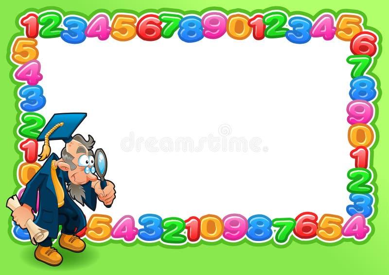 Αστεία κάρτα με το κενό διάστημα για το κείμενο. διανυσματική απεικόνιση