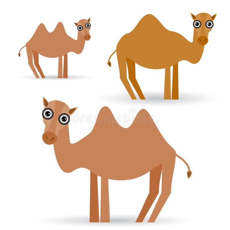 Αστεία καμήλα στο άσπρο υπόβαθρο απεικόνιση αποθεμάτων