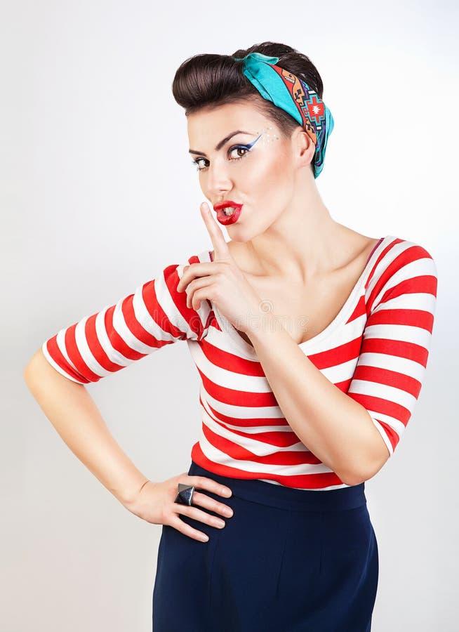 Αστεία καρφίτσα-επάνω γυναίκα στοκ εικόνα με δικαίωμα ελεύθερης χρήσης
