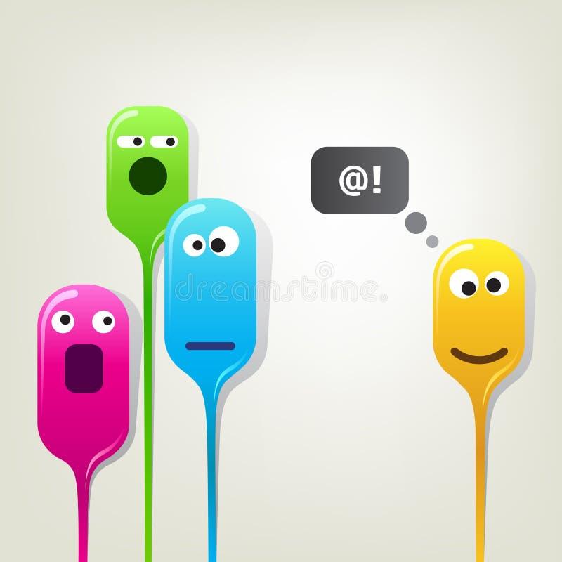 αστεία κεφάλια χρώματος &phi ελεύθερη απεικόνιση δικαιώματος
