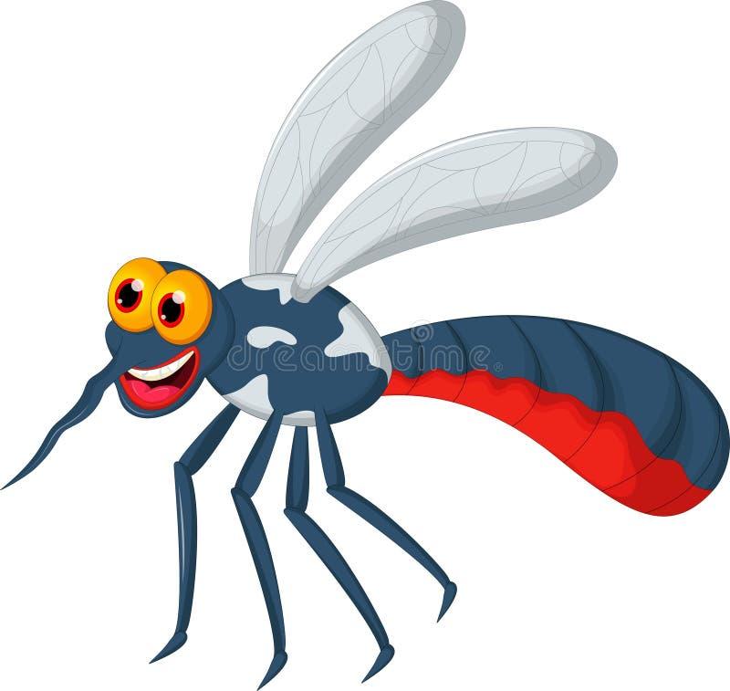 Αστεία κινούμενα σχέδια κουνουπιών για σας σχέδιο διανυσματική απεικόνιση