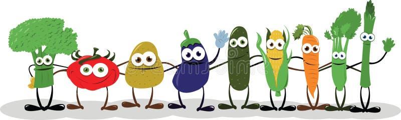 Αστεία λαχανικά που λένε γειά σου ελεύθερη απεικόνιση δικαιώματος