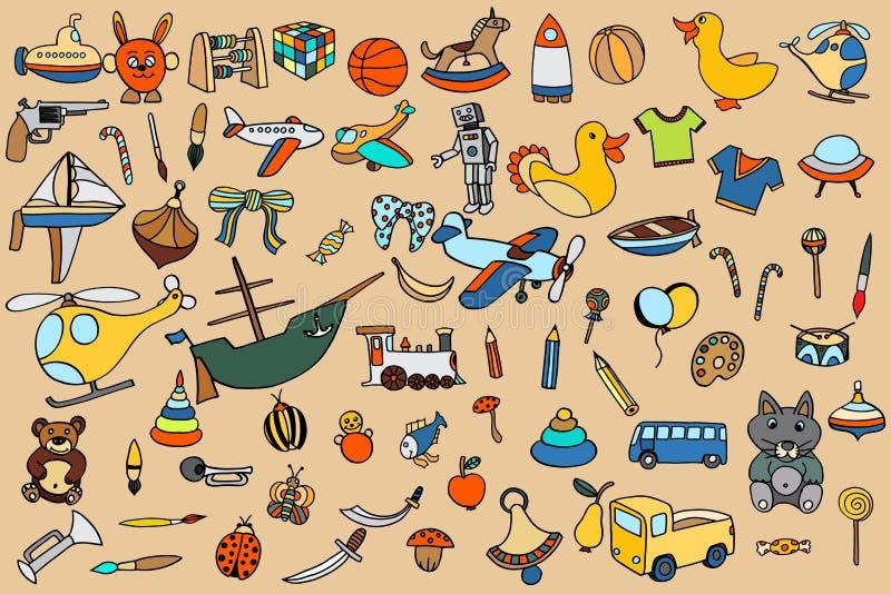 Αστεία παιχνίδια μωρών καθορισμένα απεικόνιση αποθεμάτων