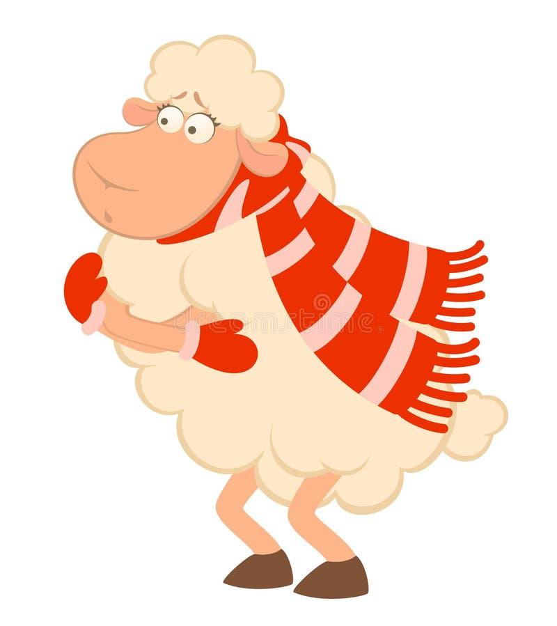 αστεία πρόβατα κινούμενων & απεικόνιση αποθεμάτων