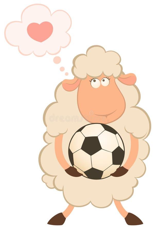 αστεία πρόβατα παιχνιδιού & διανυσματική απεικόνιση