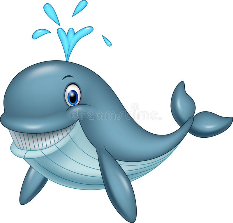 Αστεία φάλαινα κινούμενων σχεδίων απεικόνιση αποθεμάτων