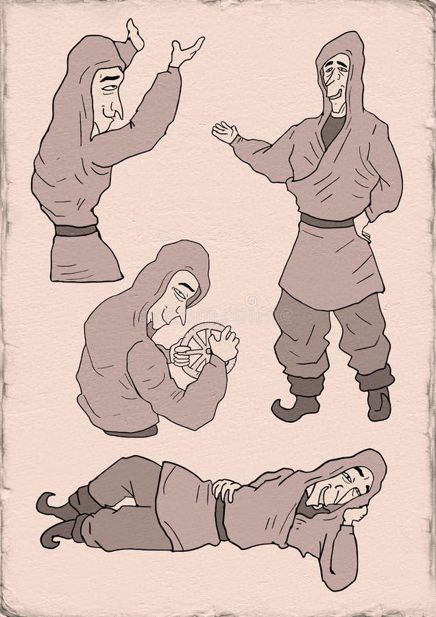 Αστεία druid απεικόνιση διανυσματική απεικόνιση