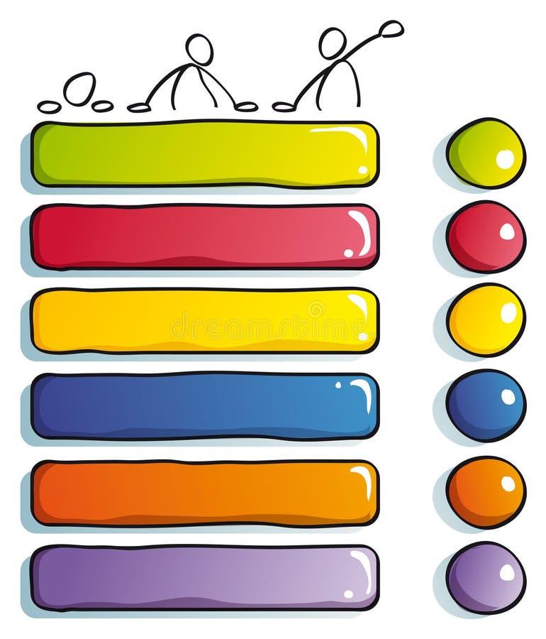 αστείοι τύποι κουμπιών στοκ φωτογραφία
