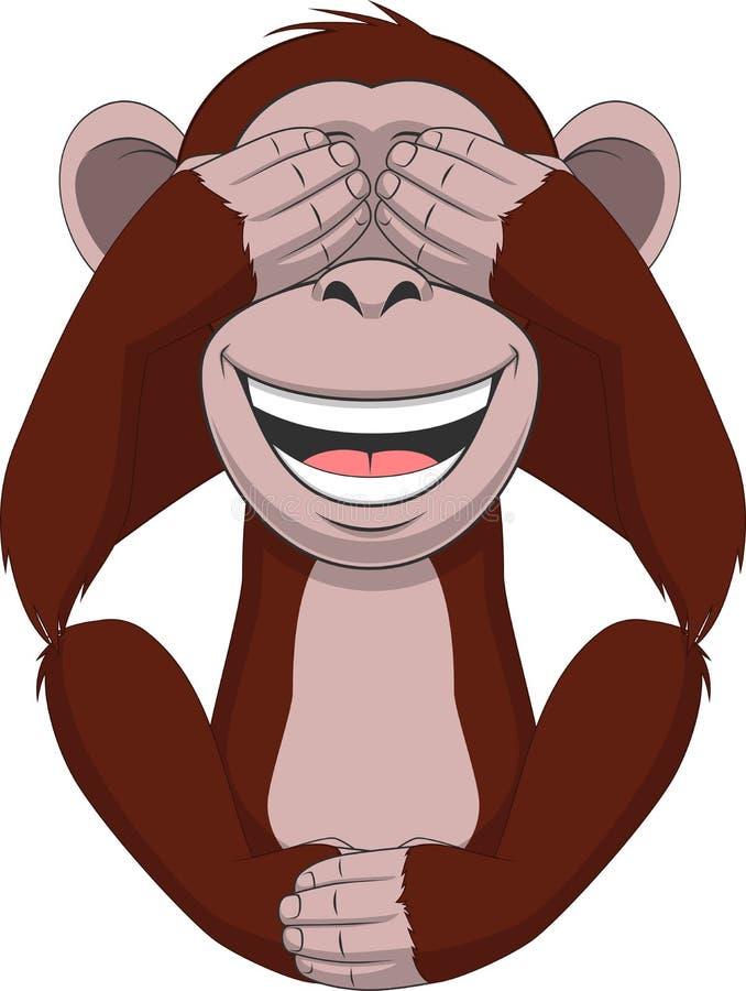 Αστείος λίγος πίθηκος ελεύθερη απεικόνιση δικαιώματος