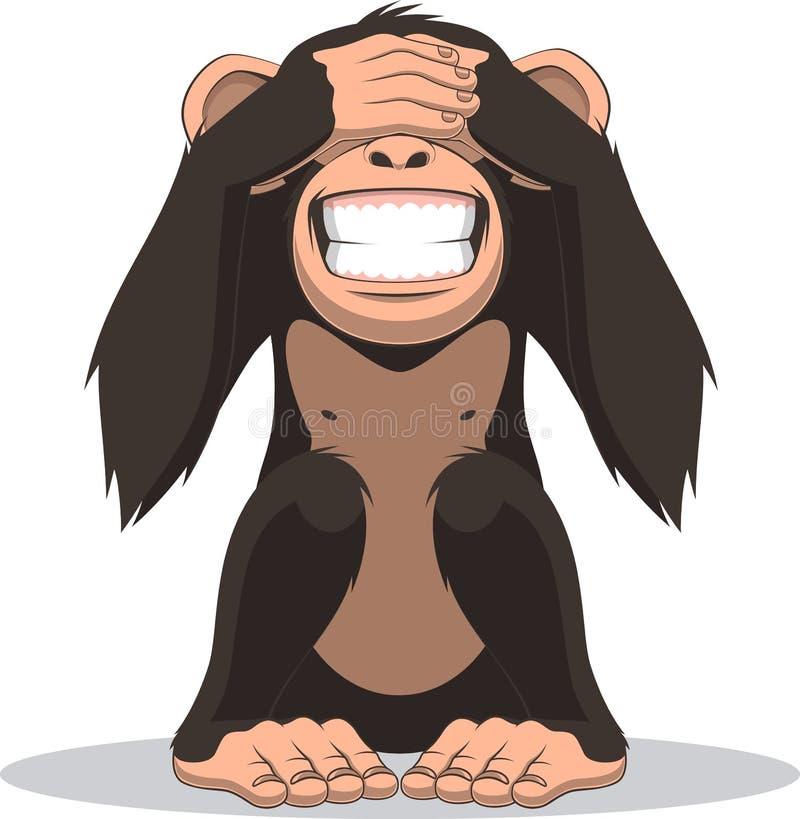 Αστείος λίγος πίθηκος διανυσματική απεικόνιση