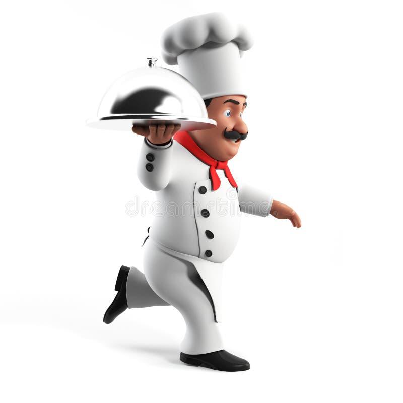 Αστείος αρχιμάγειρας κουζινών απεικόνιση αποθεμάτων