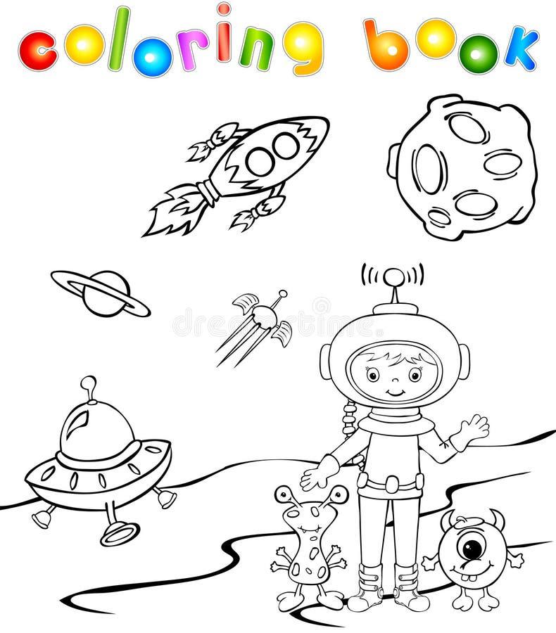 Αστείος αστροναύτης τεράτων aith απεικόνιση αποθεμάτων