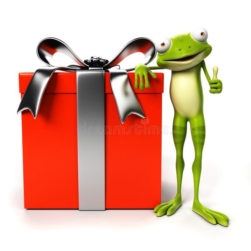 Αστείος βάτραχος - χαρακτήρας διανυσματική απεικόνιση