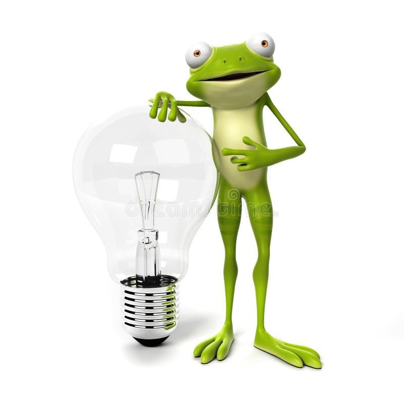 Αστείος βάτραχος - χαρακτήρας ελεύθερη απεικόνιση δικαιώματος