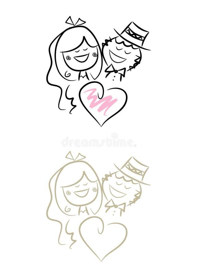 Download αστείος γάμος ζευγών διανυσματική απεικόνιση. εικονογραφία από απεικόνιση - 13179013