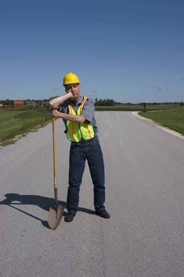 αστείος εργαζόμενος φτ&up στοκ φωτογραφία