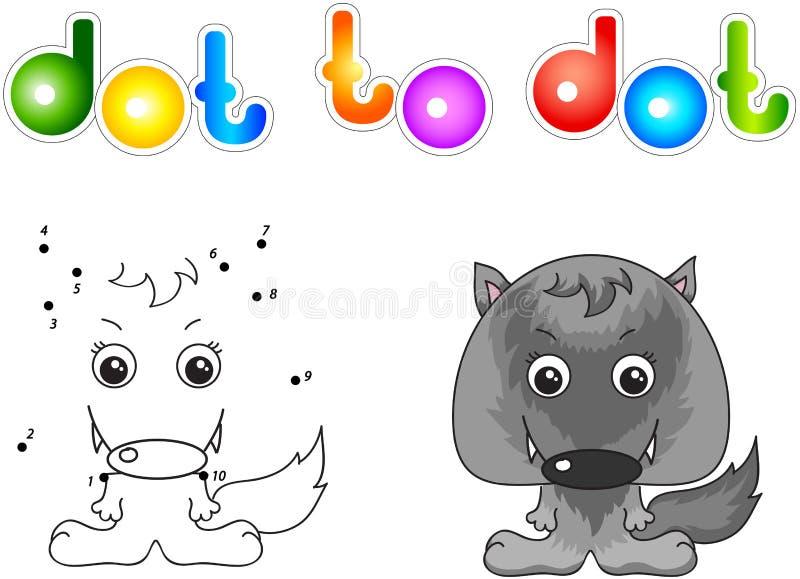 Αστείος και χαριτωμένος λύκος ελεύθερη απεικόνιση δικαιώματος