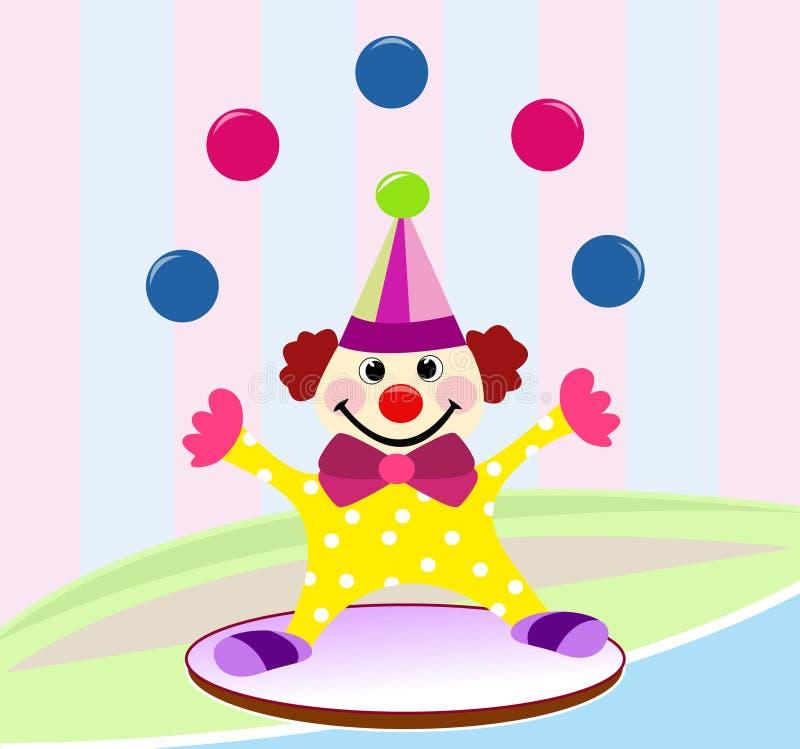 Αστείος κλόουν τσίρκων στοκ εικόνα