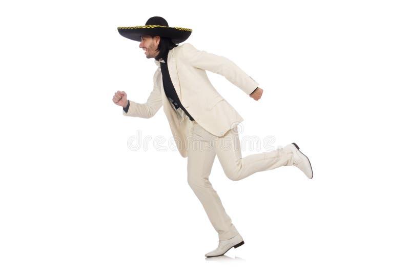 Download Αστείος μεξικανός στο κοστούμι και σομπρέρο που απομονώνεται επάνω Στοκ Εικόνα - εικόνα από σομπρέρο, μουσικός: 62709877