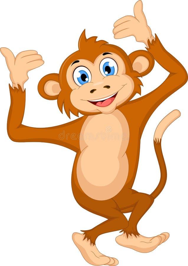 αστείος πίθηκος κινούμε& διανυσματική απεικόνιση