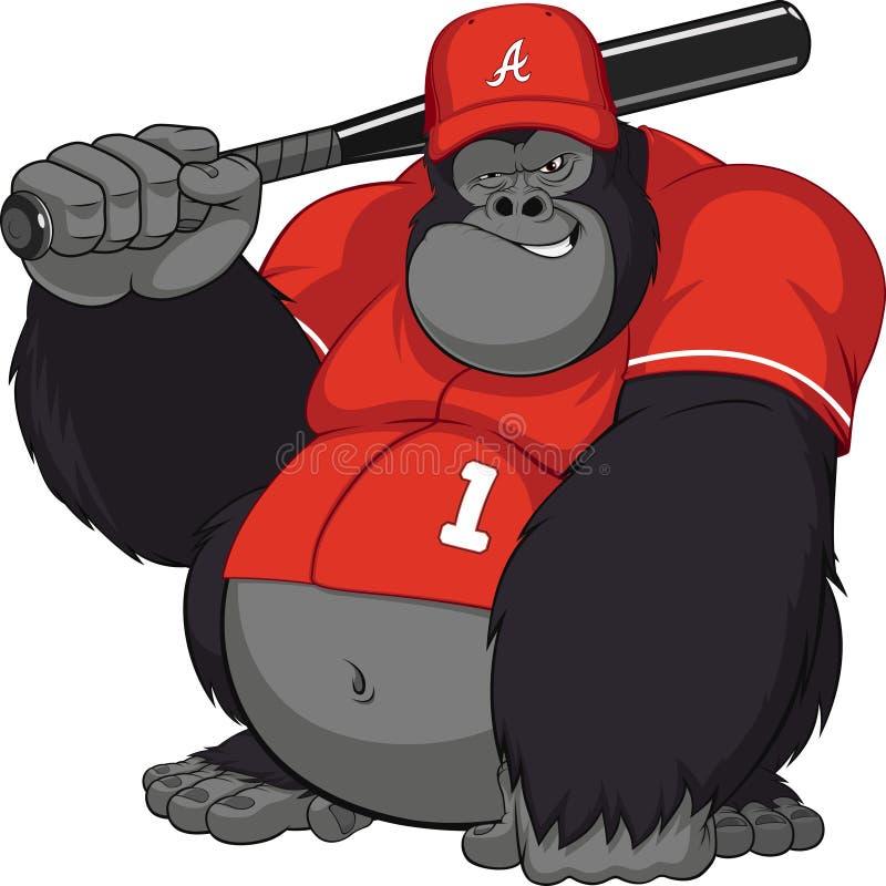αστείος πίθηκος διανυσματική απεικόνιση
