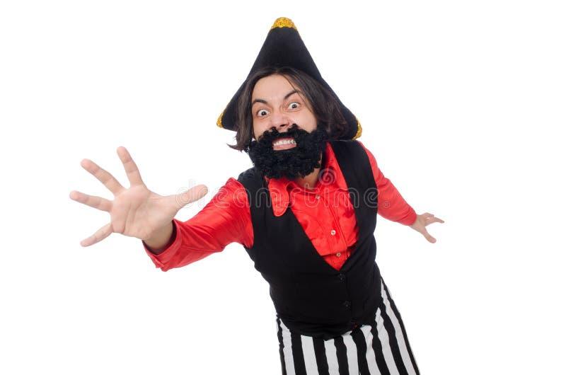 Download Αστείος πειρατής που απομονώνεται στο λευκό Στοκ Εικόνες - εικόνα από briggs, χιουμοριστικός: 62704874