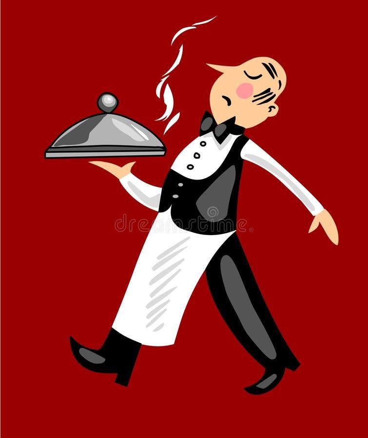 αστείος σερβιτόρος ελεύθερη απεικόνιση δικαιώματος