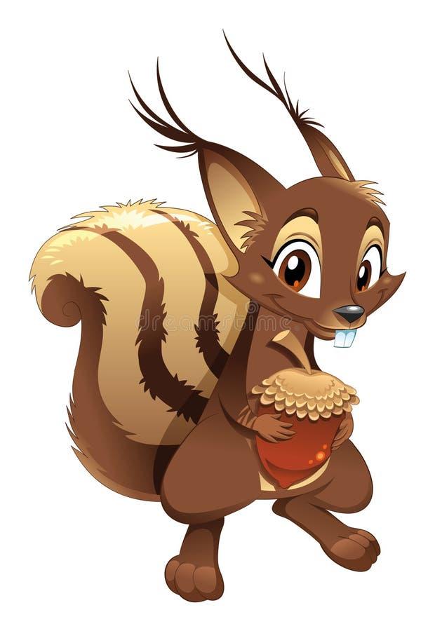 αστείος σκίουρος χαρα&ka διανυσματική απεικόνιση