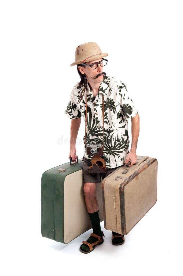 Αστείος τουρίστας σαφάρι στοκ φωτογραφία με δικαίωμα ελεύθερης χρήσης