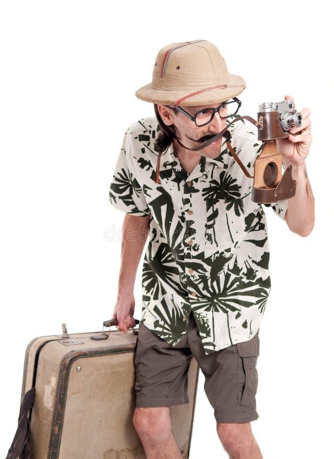 Αστείος τουρίστας στοκ φωτογραφίες