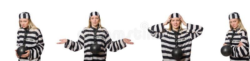 Αστείος τρόφιμος φυλακών στην έννοια στοκ εικόνα με δικαίωμα ελεύθερης χρήσης