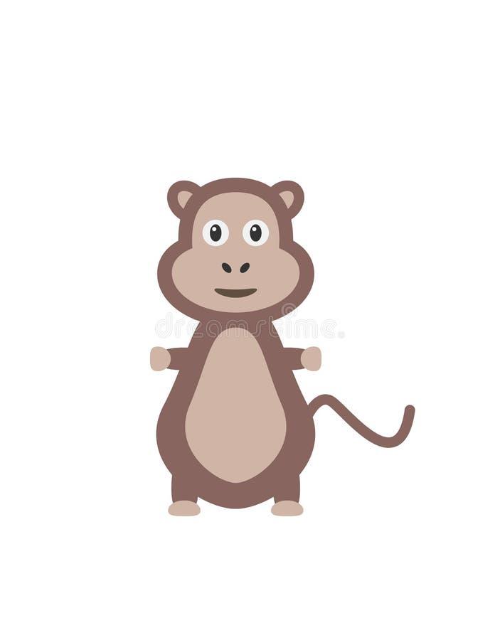 Αστείος χαρακτήρας πίθηκων διανυσματική απεικόνιση
