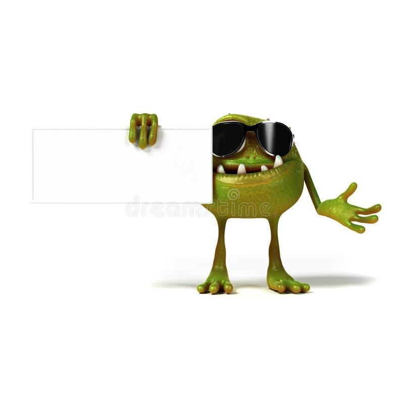 Αστείος χαρακτήρας του Toon βακτηριδίων ελεύθερη απεικόνιση δικαιώματος