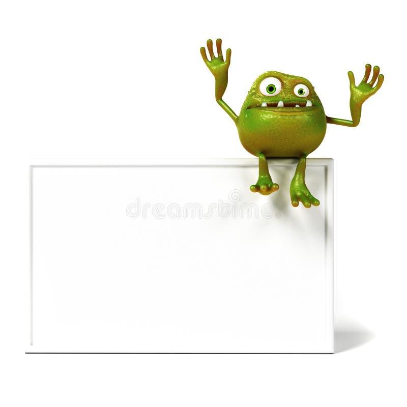 Αστείος χαρακτήρας του Toon βακτηριδίων διανυσματική απεικόνιση