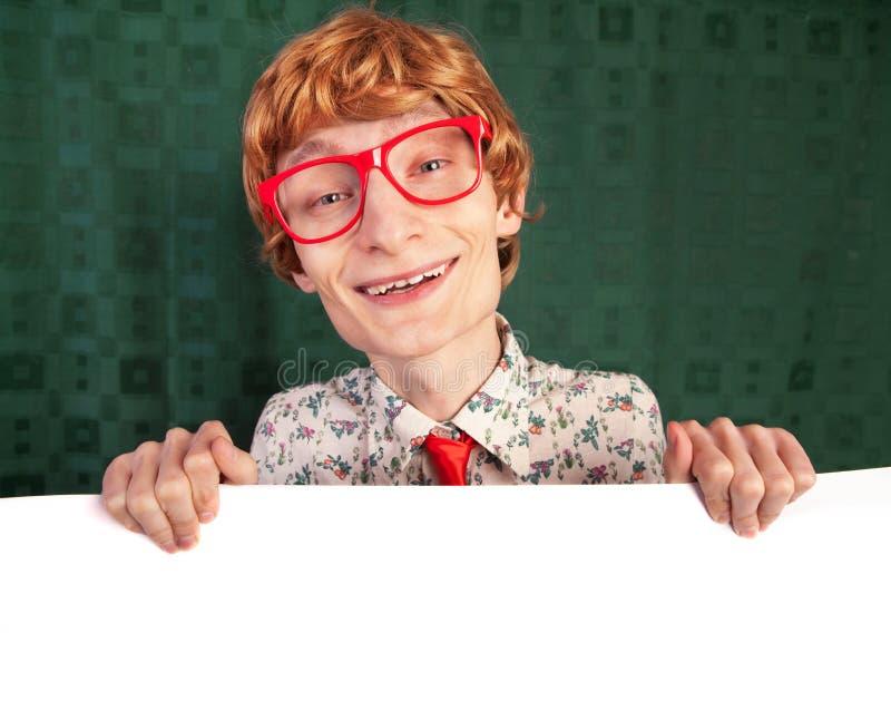 Αστείος nerdy τύπος στοκ φωτογραφία με δικαίωμα ελεύθερης χρήσης