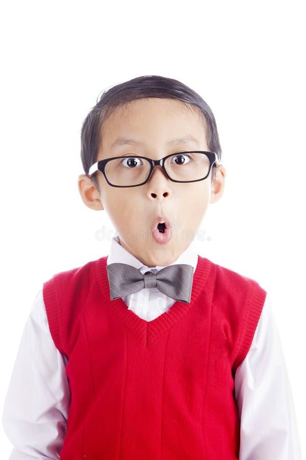 Αστείος schoolboy στοκ φωτογραφίες