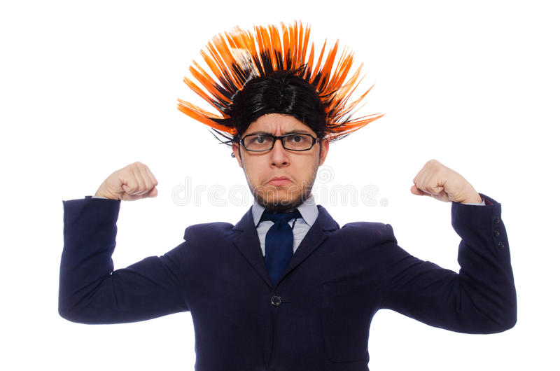 Download Αστείο άτομο με το Mohawk Hairstyle Στοκ Εικόνες - εικόνα από σωμάτων, αρσενικό: 62707910