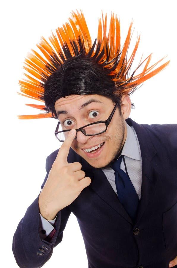 Download Αστείο άτομο με το Mohawk Hairstyle Στοκ Εικόνα - εικόνα από γέλιο, πρόσωπο: 62707915