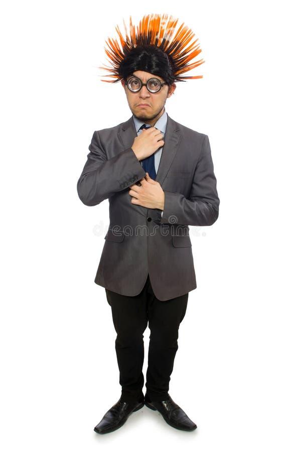 Download Αστείο άτομο με το Mohawk Hairstyle Στοκ Εικόνες - εικόνα από εταιρικός, πρόσωπο: 62708982