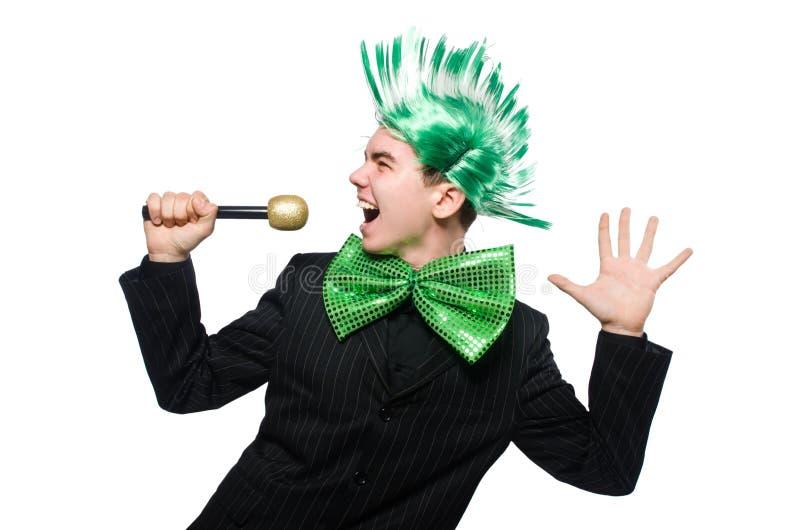 Download Αστείο άτομο με το Mohawk Hairstyle Στοκ Εικόνες - εικόνα από κούρεμα, ψυχαγωγία: 62708984