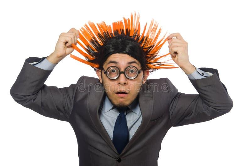 Download Αστείο άτομο με το Mohawk Hairstyle Στοκ Εικόνες - εικόνα από εκφοβισμένος, πιασμένος: 62708990