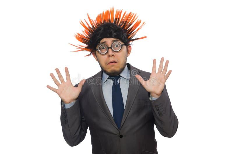Download Αστείο άτομο με το Mohawk Hairstyle Στοκ Εικόνα - εικόνα από facial, ευτυχής: 62709035