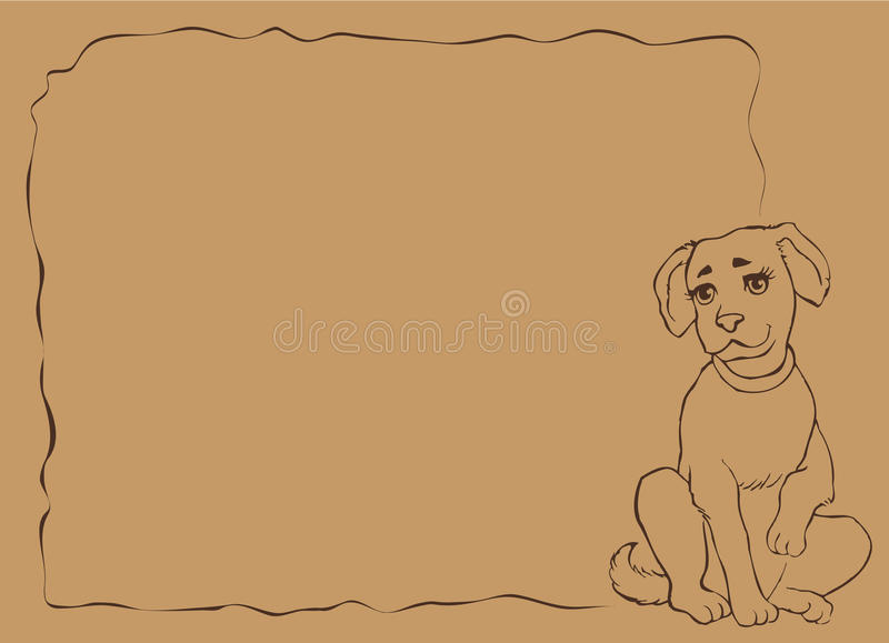 αστείο διάνυσμα κουταβ&i διανυσματική απεικόνιση
