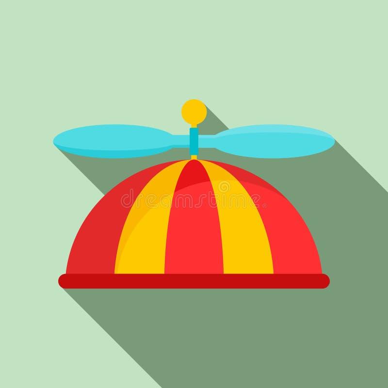 Αστείο εικονίδιο παιδιών ΚΑΠ, επίπεδο ύφος διανυσματική απεικόνιση