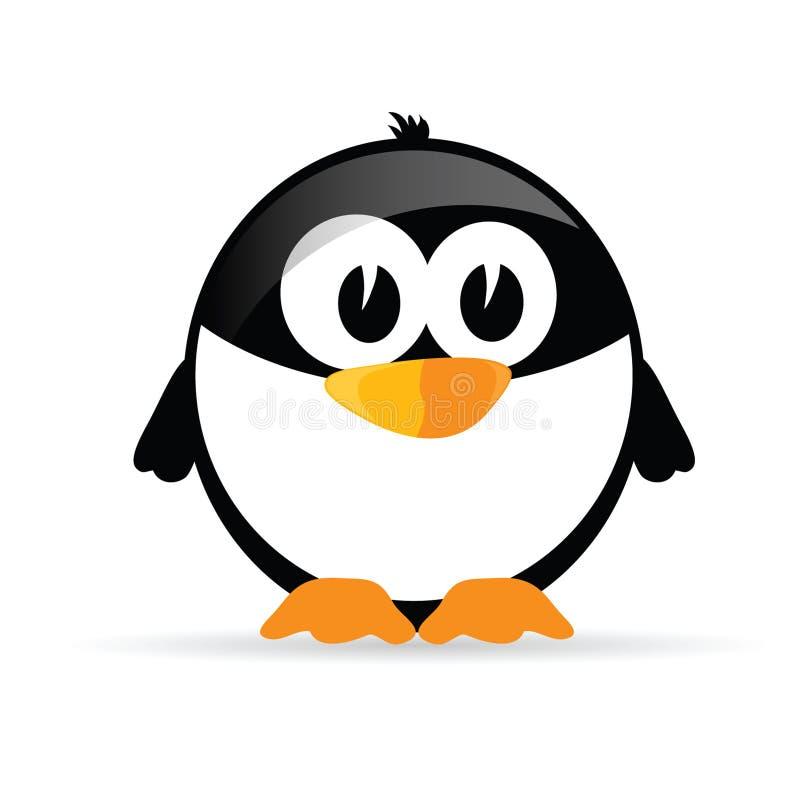 Αστείο και γλυκό διάνυσμα penguin διανυσματική απεικόνιση