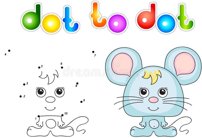 Αστείο και χαριτωμένο ποντίκι διανυσματική απεικόνιση