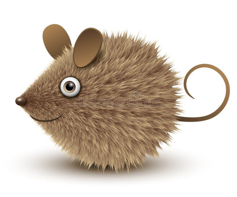 Αστείο καφετί ποντίκι διανυσματική απεικόνιση