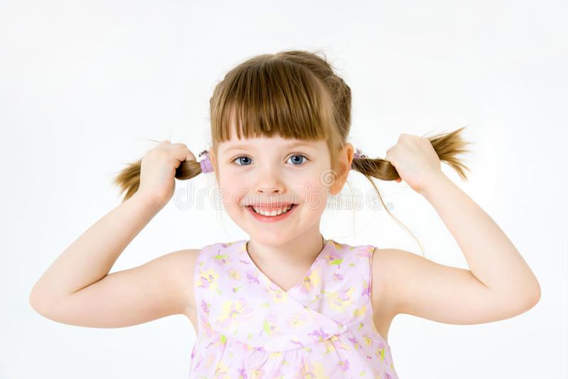 αστείο κορίτσι λίγο πορτρέτο στοκ φωτογραφίες