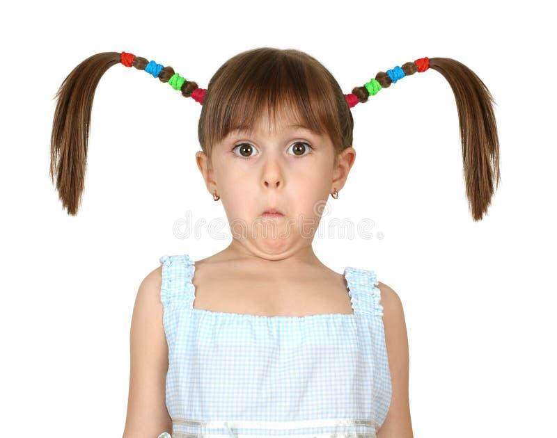 αστείο κορίτσι παιδιών έκπληκτο στοκ φωτογραφία με δικαίωμα ελεύθερης χρήσης